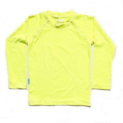 Camiseta com fator de proteção UV 50+  amarelo neon