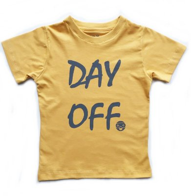 Camiseta Day Off - mostarda