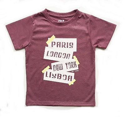 Camiseta trip - marsala