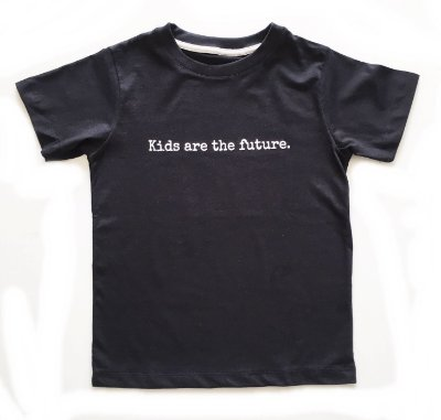 Camiseta Kids are the future - preta