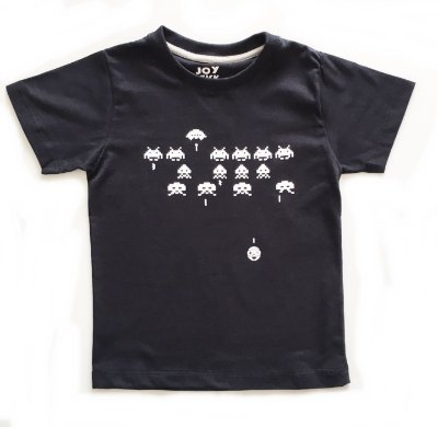 Camiseta Space Invaders - preta