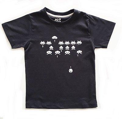 Camiseta Space Invaders - preta