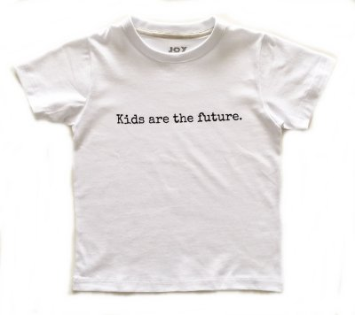 Camiseta Kids are the future - branca