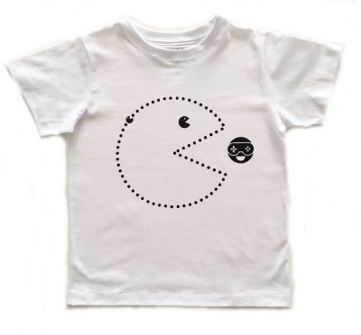 Camiseta Pac man - branca