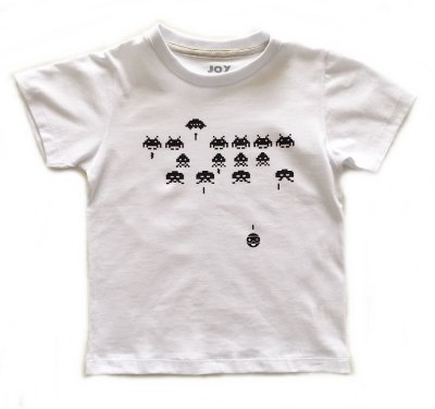 Camiseta Space Invaders - branca