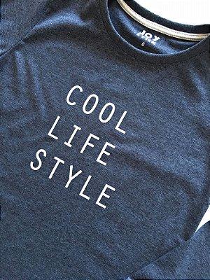 Camiseta manga longa - Cool life style - cinza chumbo