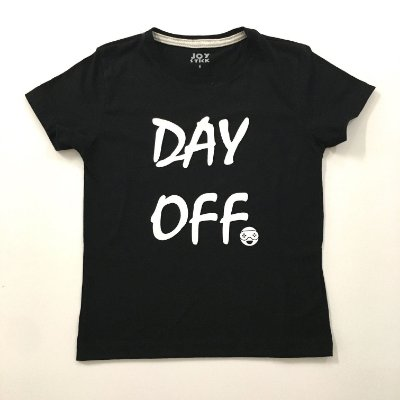 Camiseta Day off- preta