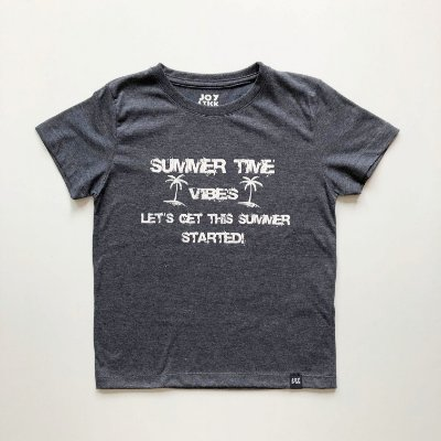 Camiseta Summer time - cinza chumbo