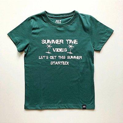 Camiseta Summer time - verde
