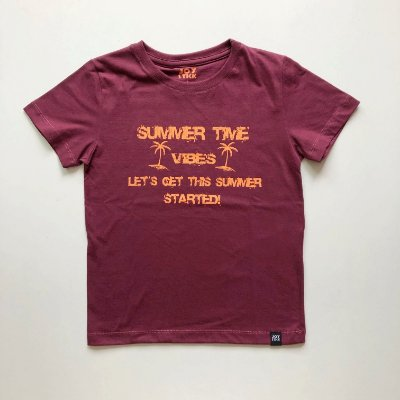 Camiseta Summer time - bordô