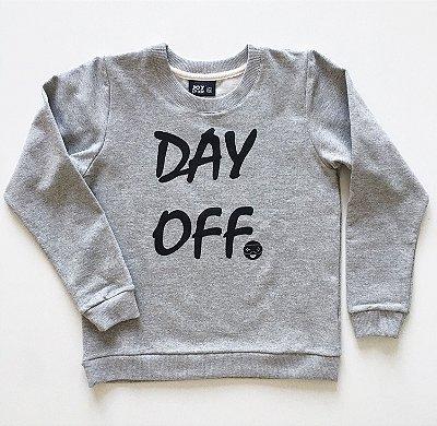 Blusão Day off - cinza mescla - Moletinho leve e quentinho (felpado)