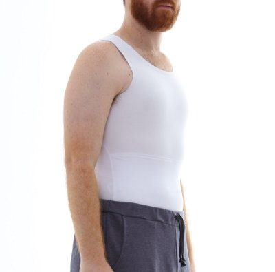 Cinta Modeladora e Postural Masculina Shapewear - Branco - Slim Fitness