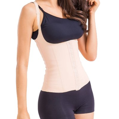 Cinta Modeladora Emborrachada Cotton - Body Shaper Esbelt 431