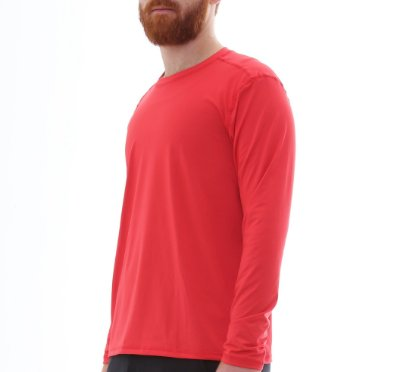 Camiseta Proteção Solar Uv50 Manga Longa - Vermelho - Slim Fitness