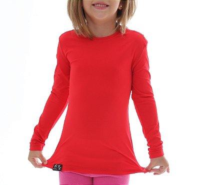 Camiseta Infantil Proteção Solar Uv50 - Vermelho - Slim Fitness