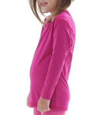 Camiseta Infantil Proteção Solar Uv50 - Fúscia - Slim Fitness