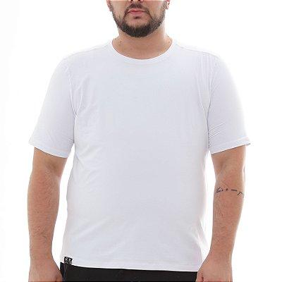 Camiseta Masculina Proteção Solar Uv50 Manga Curta - Branca - Slim Fitness