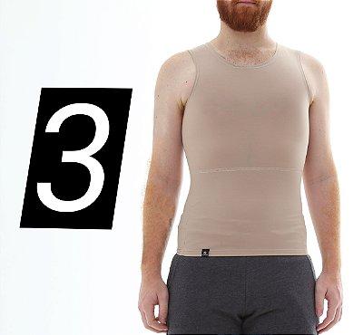 Kit com 3 Cintas Modeladoras e Postural Masculina Shapewear - cores - Slim Fitness