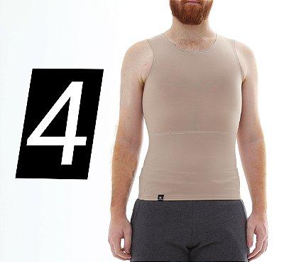 Kit com 4 Cintas Modeladoras e Postural Masculina Shapewear - cores - Slim Fitness