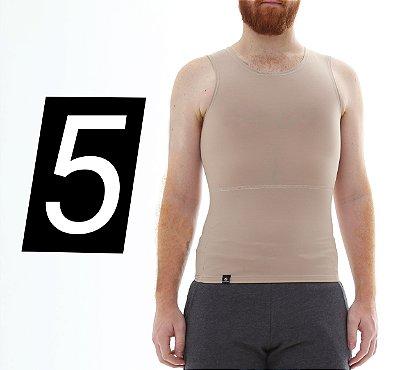 Kit com 5 Cintas Modeladoras e Postural Masculina Shapewear - cores - Slim Fitness