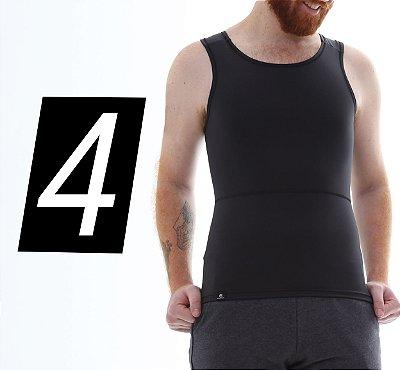 Kit com 4 Cintas Modeladoras e Postural Masculina Body Shaper - cores - Slim Fitness