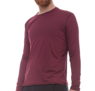 Camiseta Masculina Proteção Solar Uv50 Manga Longa Light - Vinho - Slim Fitness