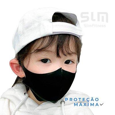 Kit com 05 Máscaras Infantis Reutilizável Máxima Proteção Anti-Vírus - Preta - Slim Fitness