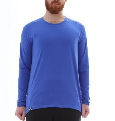 Camiseta Masculina Proteção Solar Uv50 Manga Longa Light - Azul Royal - Slim Fitness