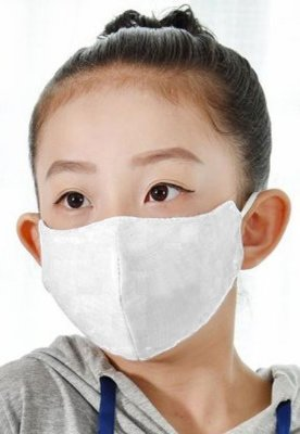 Kit com 03 Máscaras Infantis Reutilizável Máxima Proteção Anti-Vírus - Branca - Slim Fitness