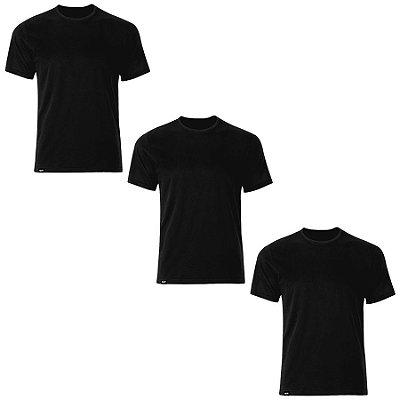 Kit com 03 Camisetas T-Shirt Antiviral - Slim Fitness