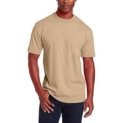 Camiseta T-Shirt Básica Slim Tee - Slim Fitness - Bege