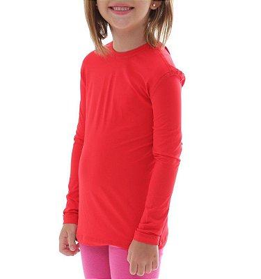 BF - Camiseta Infantil Proteção Solar Uv50 - Vermelho - Slim Fitness