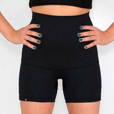BF - Shorts Cintura Alta  Slim Fit Cinta Modeladora