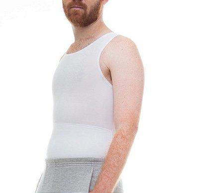 BF - Cinta Modeladora e Postural Masculina Light Compression Bodyshaper - Branco - Slim Fitness