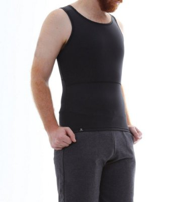 BF - Cinta Modeladora e Postural Masculina Light Compression Bodyshaper - Preto - Slim Fitness