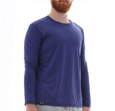 PROMOÇÃO - Kit com 2 Camisetas Masculina Proteção Solar Uv50 Manga Longa - Slim Fitness