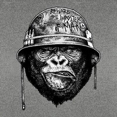 Camiseta Gorila de Guerra