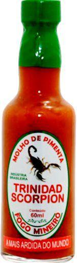 Pimenta Trinidad Scorpion - Molho 60ml