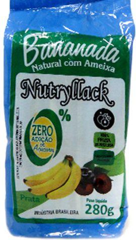 Bananada Natural com Ameixa Nutryllack Zero Açúcar 280g (10 unids 28g)