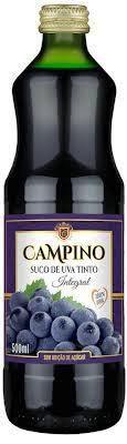 Suco de Uva Tinto Campino 500ml - Integral e 0% açúcar