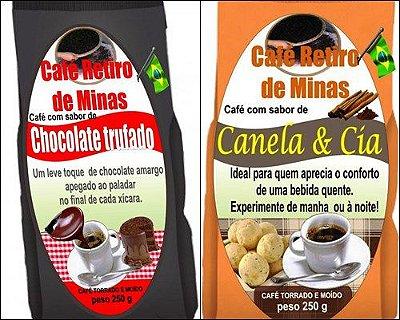 kit 5 cafés aromatizados