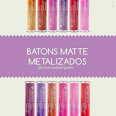 Shine`s - Batom Liquido Matte Metalizado