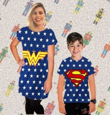 T-Shirt - Regatão - Vestido, Adulto ou Infantil - Tal Mãe Tal Filha Cód. 4009/4008