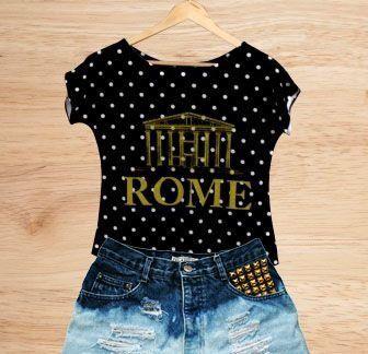 T-Shirt - Regatão - Vestido, Adulto ou Infantil - Tal Mãe Tal Filha Cód. 3585-1