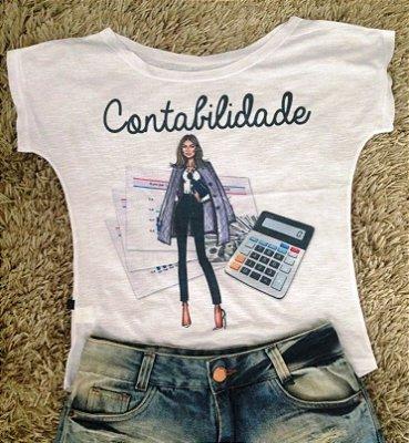 T-Shirt - Regatão - Vestido, Adulto ou Infantil - Tal Mãe Tal Filha Cód. CONTABILIDADE