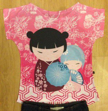 T-Shirt - Regatão - Vestido, Adulto ou Infantil - Tal Mãe Tal Filha Cód. 2419