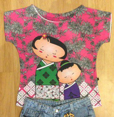 T-Shirt - Regatão - Vestido, Adulto ou Infantil - Tal Mãe Tal Filha Cód. 2424