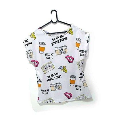 T-Shirt - Regatão - Vestido, Adulto ou Infantil - Tal Mãe Tal Filha Cód. 4932