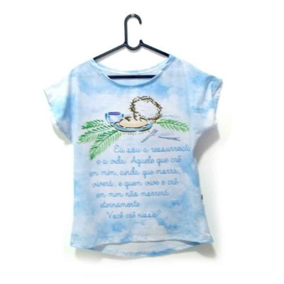 T-Shirt - Regatão - Vestido, Adulto ou Infantil - Tal Mãe Tal Filha Cód. 4938