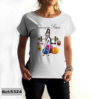 T-Shirt - Regatão - Vestido, Adulto ou Infantil - Tal Mãe Tal Filha Cód. 5324 Educação Fisica